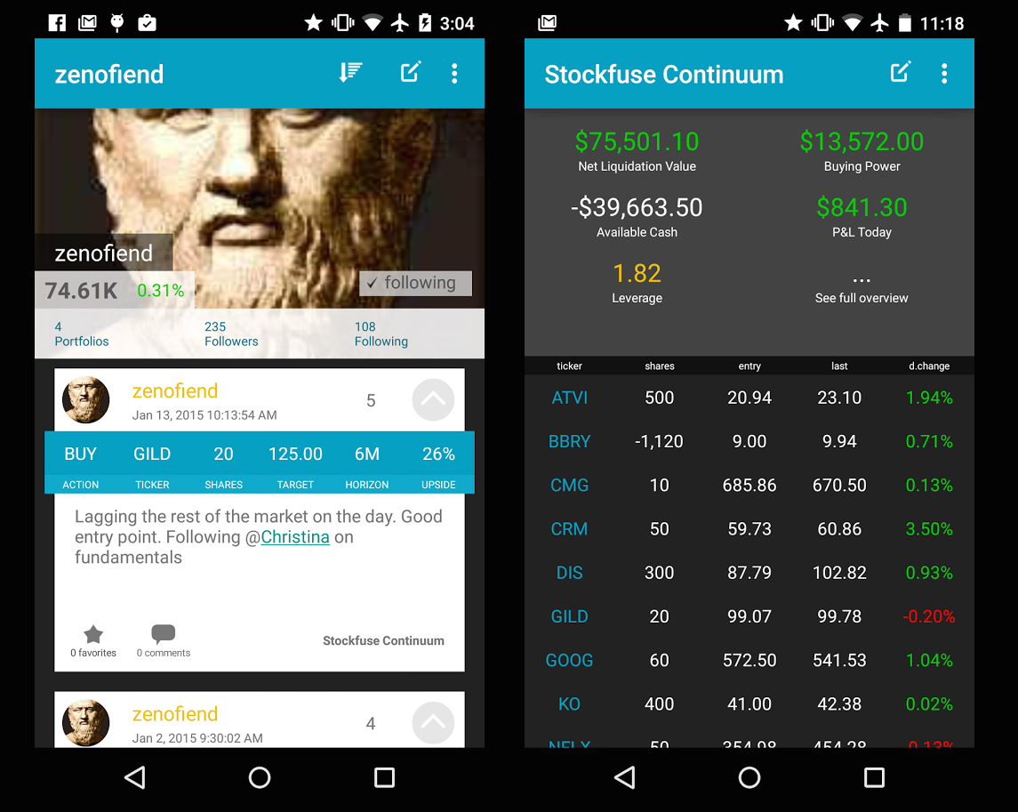 Stockfuse for Android
