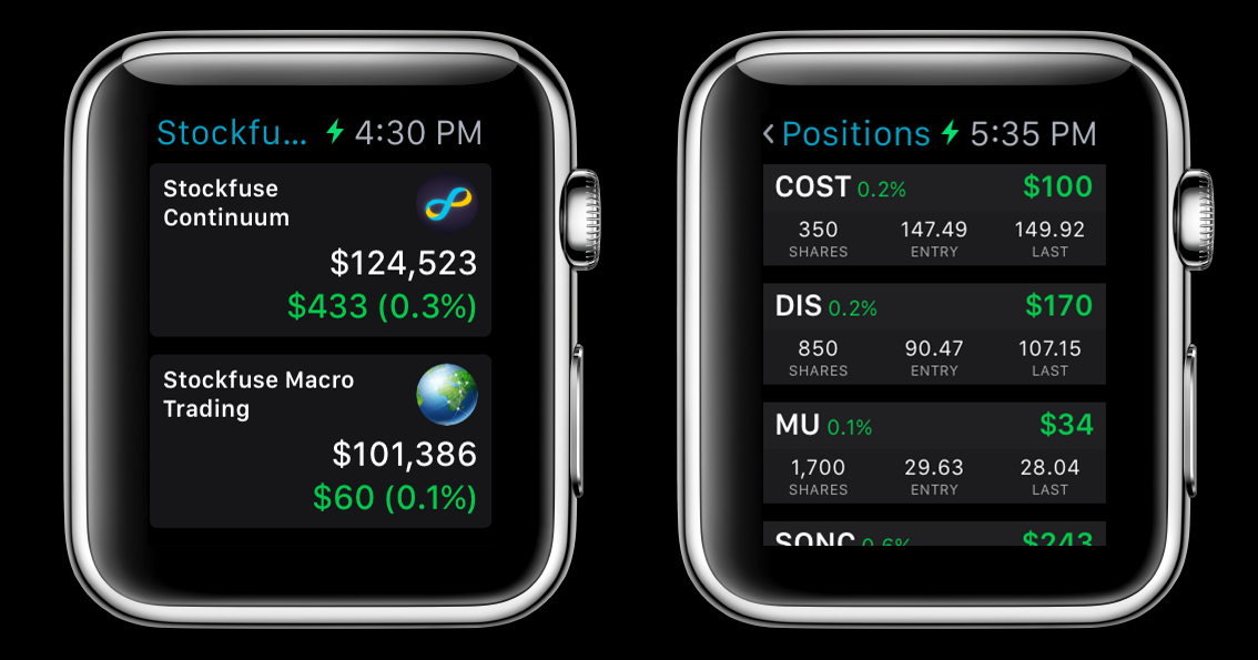 Stockfuse on Apple Watch